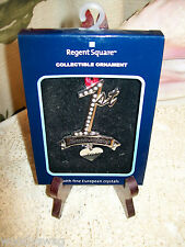 NOS Regent Square European Crystals Christmas Ornament 1st Anniversary 2011