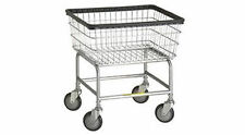 Standard Laundry Cart - On Wheels - With Chrome Basket