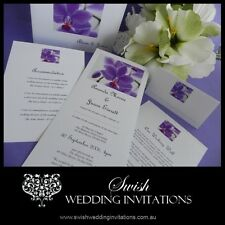 Purple Orchid Modern Engagement Wedding Invitations - Samples Invites ONLY $1