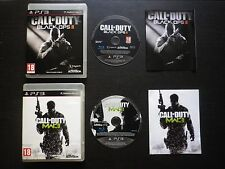LOT 2 JEUX Sony PLAYSTATION 3 PS3 CALL OF DUTY BLACK OPS 2 II + MODERN WARFARE 3