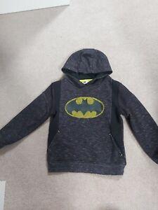 Boys Batman Hoodie Jumper Age 6-7 years