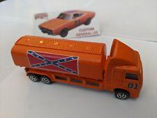 Hot Wheels Custom Dukes of Hazzard General Lee 1996 Tanker Semi Truck