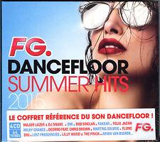 FG DANCEFLOOR SUMMER HITS 2015 - 4 CD 64 TITRES - NEUF ET SOUS CELLO