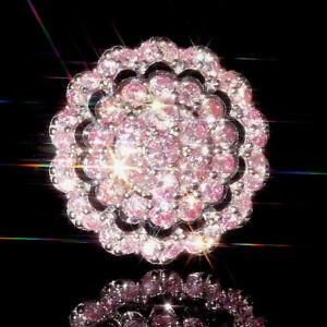 2Ct Natural Pink Diamond 10K White Gold Ring Color Enhanced RPG69-10-7-2