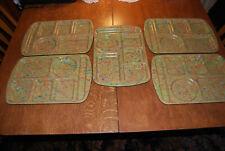 Set of 5 Prolon Ware Melamine School Cafeteria Lunch Tray Confetti 9953 Tan