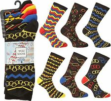 Ayra: 6 Pairs of Mens WIZZ Odd Squares and Spots, Size 6-11, EU 39-45
