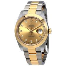 Rolex Datejust 41 Champagne Diamond Dial 18K Yellow Gold Mens Watch 126303CDO
