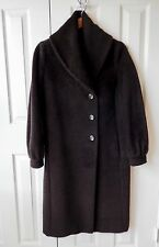 MAX MARA *RARE* NWT Brown Alpaca Single Breasted L/S Shawl Collar Coat Sz 6