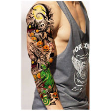 60X Removable Waterproof Tattoo Sleeve Stickers Large Temporary Tattoo Arm Body