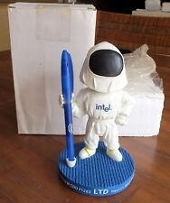 2004 INTEL BOBBLE HEAD PEN HOLDER COMPLETE W/PEN-NEW CONDITION-NEVER DISPLAYED