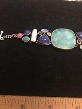 Stunning Multi-Stone Sterling Bracelet