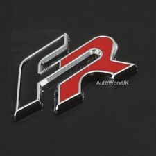 New FR Badge Emblem Sticker Black Red For Seat Cupra Ibiza Leon Car Rear Boot