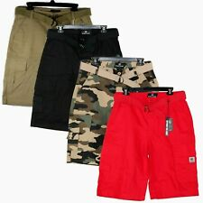 Men Cargo Shorts with Belt 4 Color BTL Lightweight Relaxed Fit 7 Pocket