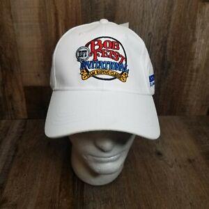 Bob Feist Invitational Team Roping Classic White OOAK PROMO Baseball Cap Hat T6