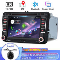 Android 10 Car Stereo Sat Nav For VW Golf Tiguan Seat Passat 4G CD/DVD Player BT