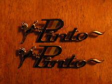 LOT of 2 Emblems Nameplates Badges VINTAGE CAR PARTS FORD PINTO HOT ROD VEHICLE