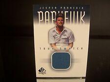 Jesper Parnevik Upper Deck SP Authentic Tour Swatch Game Warn 2001 Card #JP-TS