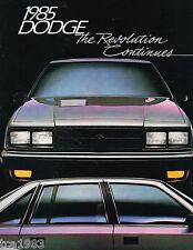 1985 DODGE LANCER/Daytona/CARAVAN/ARIETE / VAN /DIPLOMAT/Charger/ Ram Pick-up