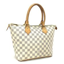 100% Auth Louis Vuitton Damier Azur Saleya PM Shopping Tote Hand Bag / 2914