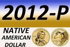 2012-P Native Anerican Bright Clear Uncirculated Dollar=Bu=