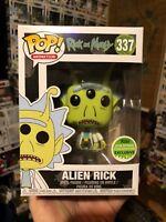 Rick And Morty Funko Pop ! Alien Rick + Pop Protector