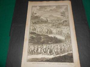 1729 Copper egraving Picart Ceremony Elephant Republic of Myanmar Pegu Bago