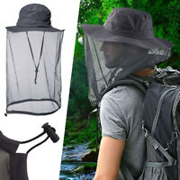 b71b38178c609 Outdoor Mosquito Head Net Hat UPF 50+ Men Sun Hat with Mesh Face Mask  Protection