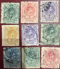 9 Sellos Alfonso XIII 1909  Edifil  268.269,270,271,272, 273,274,275 y 276