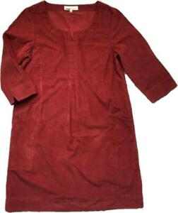 NEW! SEASALT Red 'Caerhays' Soft Needlecord Cotton Cord Pleat Tunic Dress Top 10