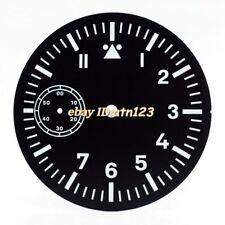 38.9 mm Fit ETA 6498 movimento Seagull corgeut Quadrante Nero Verde Luminoso p730