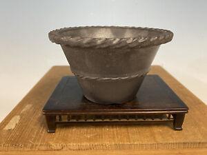 """Rare Metallic Gen Tokoname Yamaaki Shohin Bonsai Tree Pot 5 By 2 7/8"""""""