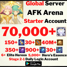 [GLOBAL/ANDROID] 70000+ DIAMONDS | AFK ARENA STARTER ACCOUNT