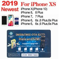 HEICARD UNLOCK Chip for iPhone X XS 8 7 Plus Unlocking Sim Card Newest ICCID Hot
