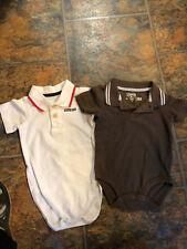 Lot of 2 OshKosh B'Gosh Infant One Piece  Body Suit  Size 18 month  Short Sleeve