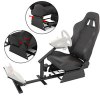 Racing Simulator Cockpit Driving Seat Gaming Chair W/ Stand Pedal for Xbox 360