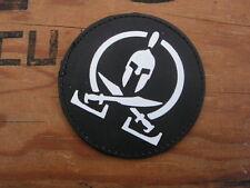"""SNAKE PATCH """" SPARTAN """" noir PVC 2D ECUSSON US forces spéciales TAP Airsoft COS"""