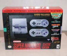 (NEW SEALED) SUPER NINTENDO CLASSIC EDITION GAME CONSOLE SYSTEM SNES EARTHBOND