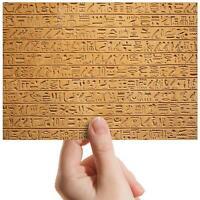 "Hieroglyphics Stone Tablet Small Photograph 6"" x 4"" Art Print Photo Gift #16104"