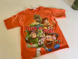 Toy story 3 Orange Character T SHIRT Boys 7 worn