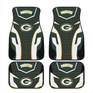 Green Bay Packers Car Floor Mats Universal Pickup Front/Rear Floor Rugs 2/4 PCS