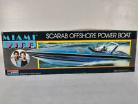 Miami Vice Scarab Offshore Powerboat Monogram Model Kit # 3104 ~ Parts Lot