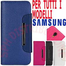COVER Pellicola Custodia PORTAFOGLIO chiusura magnetica libro per Samsung Galaxy