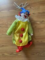 Vintage Heritage Mint Clown Doll RARE green Red Collectible Circus Creepy Happy
