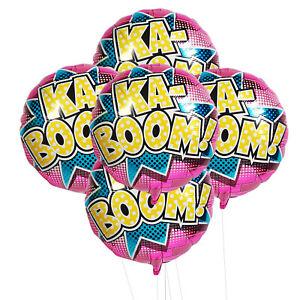 Birthdayexpress Superhero Girl Party Supplies 5Pc Foil Balloon Kit