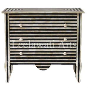 Bone Inlay 3 Drawer Dresser Sideboard