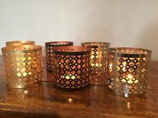 PAIR OF TEA LIGHT CANDLE HOLDERS T LITE  NICKEL,GOLD or COPPER BLACK FINISH TL-3