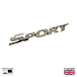 Chrome Sport Car Boot Badge Emblem Logo Decal 3D New Trunk Sticker
