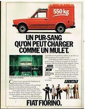 Publicité Advertising 1980 Le Fourgon utilitaire Fiat Fiorino
