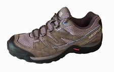 Salomon Womens Shoes Size 8 Gray Hiking Running Contagrip Athletic Footwear Used