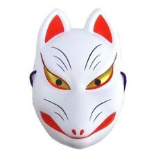 New Japanese Fox KITSUNE Mask OMEN Cosplay Costume Rare Halloween Japan